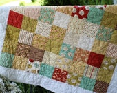 25% OFF) Handmade Designer Fabric Baby Quilt - Whimsy - Ready To Ship