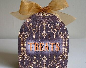 Halloween Treats Favor Box Printable File