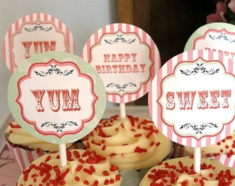 Sweet Shoppe Candy Birthday Printable Party Pack Kit Instant Download