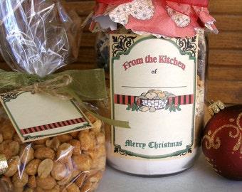 Christmas Food Label Printable Digital File Instant Download