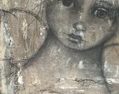 Original Painting Abstract Mixed Media Angel