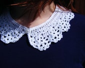 White Detach Lace Collar - Peter Pan Collar - Crochet Neck Accessory