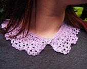 Lilac Crochet Lace Collar Accessory