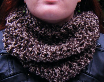 Soft Brown Cowl Scarf