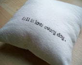 Small throw pillow in black and white