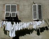 Lucca Laundry: 5x7 Photo Taken in Lucca, Italy