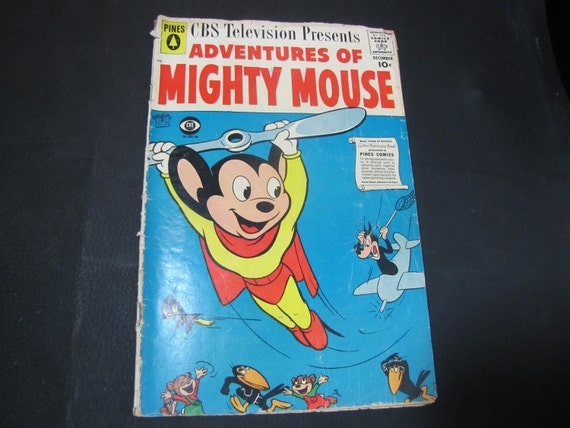 "Vintage ""Adventures of Mighty Mouse"" comic book 1958"