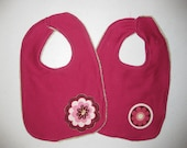 CLEARANCE - Bib Duo: Pink/Floral