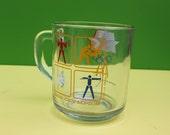 1984 Los Angeles Olympics Vintage McDonald's Mug - Summer Olympic Games Glass - Retro USA- Downstate