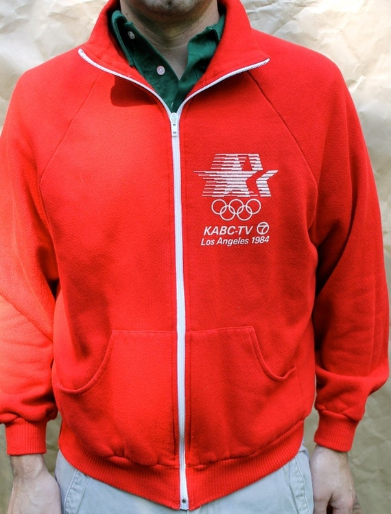 Olympics 1984 Los Angeles KABC-TV 7 Vintage Fleece - Red & Soft -Downstate