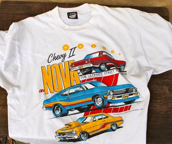 Chevy II Nova Vintage T-Shirt - Chevloret Retro Car Shirt - Ultimate Street Machine - 1987 - Downstate