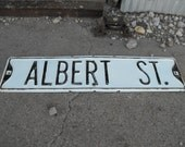 Sale Vintage Street Sign ALBERT STREET Old Antique Sign Industrial Deco Architecture Garden