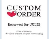 Custom Order - Photo Holders -  Set of 10 in Antique White