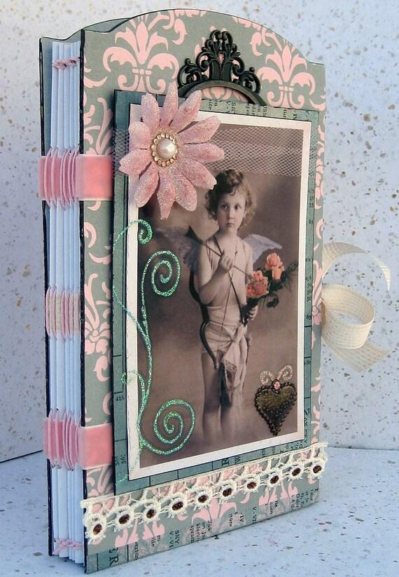 Scrapbook, Smash Book, Photo Album, Journal, Cupid, Valentine, Romantic