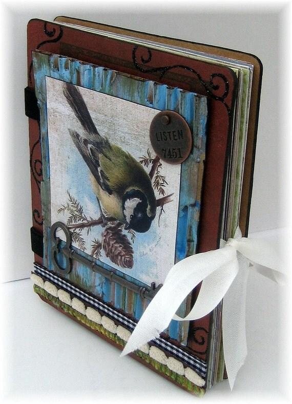 Scrapbook, Smash Book, Photo Album, Art Journal, Bird, Nature