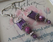Pretty Purple Earrings