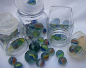 Instant Collection Marbles Vintage Glass Jars