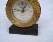 Vintage Swiza Sheffield Swiss Made Alarm Art Deco clock Steam Punk Retro Decor