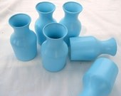 Cottage Chic Beach Blue Glass Collection Wedding Party Holiday Display