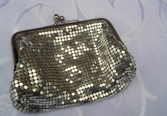 SALE Whiting and Davis Silver change purse collectible