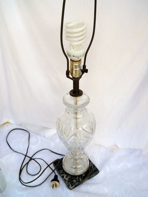 Lamp Lighting Crystal Glass Retro Marble table lamp