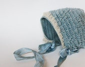 beautiful wool baby bonnet