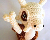 Pokemon Cubone Amigurumi - Made to Order - free Pokeball keychain included