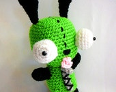 Gir Amigurumi Plush Dog Suit - Inspired by Invader Zim - Made to Order
