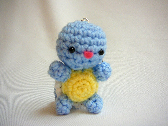 Pokemon Squirtle Amigurumi Keychain