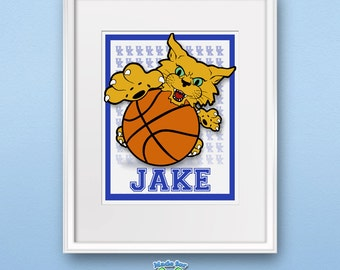 Baby UK Wildcat  Print Personalized for nursery & childrens room LIMITED EDITION