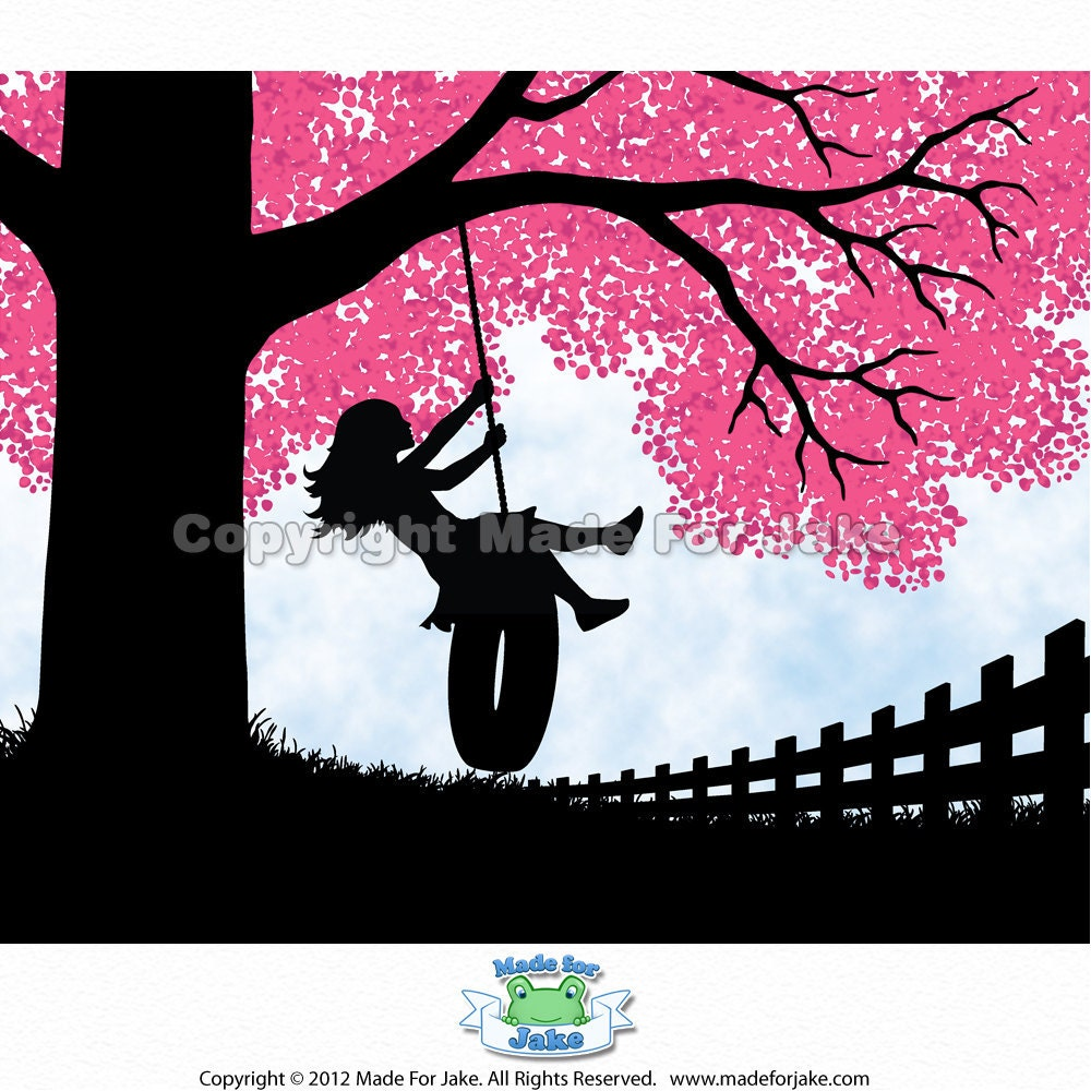 Girl Silhouette tire s...