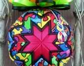 Autism Awareness puzzle pattern quilted ornament