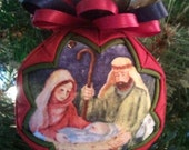 Nativity Quilted Ornament