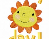 Sunny Day Smiling Sun machine embroidery and applique combination design by Cutestuff Designs - CutestuffDesigns