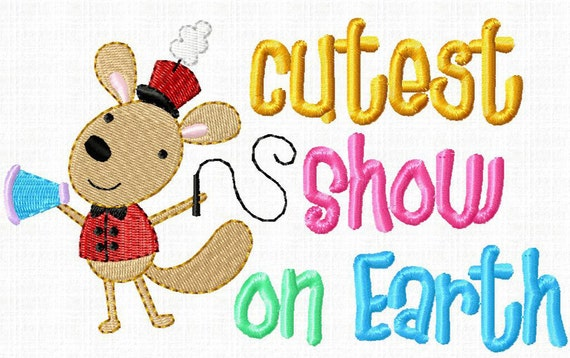Embroidery Circus Animals machine embroidery by Cutestuff Design set with phrases DIGITAL DOWNLOAD