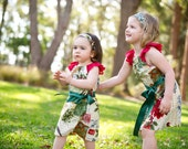 """Christmas dress - Size 2 """"Christmas Wishes"""" lace sleeved dress"""