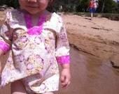 Little Girls Beach Kaftan size 2