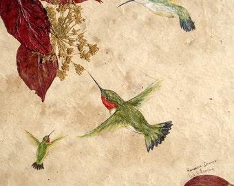 Hummingbirds Print - 8 x 10
