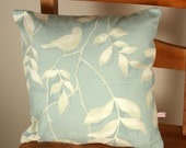 Cushion cover duck egg, Laura Ashley  fabric, finished with zip, 31 x 31 cm Free UK delivery