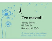Dandelion DIY Moving announcement, New Address, New Home, Just Moved, Printable Photo Card