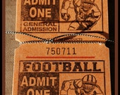 Football Tickets - Scrapbooking, Tags, Invitations, Tailgating, Cards
