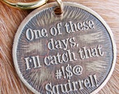 Pet Tag, Squirrel, Custom Etched Pet ID Tag