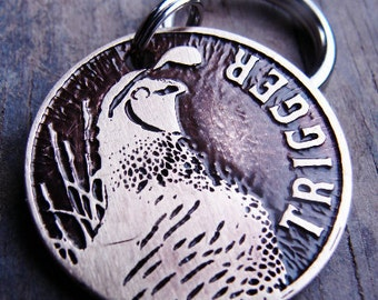 Dog Tag, Custom ID, Dog ID, Hunting, California Quail