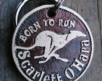 Custom Dog Tag, Born to Run Etched, Pet ID Tag