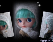 Crochet Pattern - Blythe Frost Lace Hood and Scarf