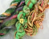 Kitchen Sink Art Yarn Hand Spun Sampler 3 Skeins Thick and Thin by Spinables 401