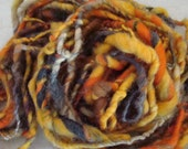 Kitchen Sink Art Yarn Hand Spun Thick and Thin by Spinables