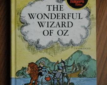 VINTAGE RARE Children's 'The Wonderful Wizard of Oz,' Folger's Special Ed unabridged L. Frank Baum COLOR illustrations Ericka Markling, 1970