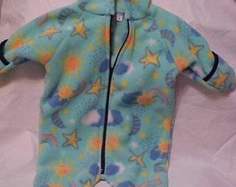 Fleece Baby  Bunting--   SUN & STARS print  - Size S, M or L