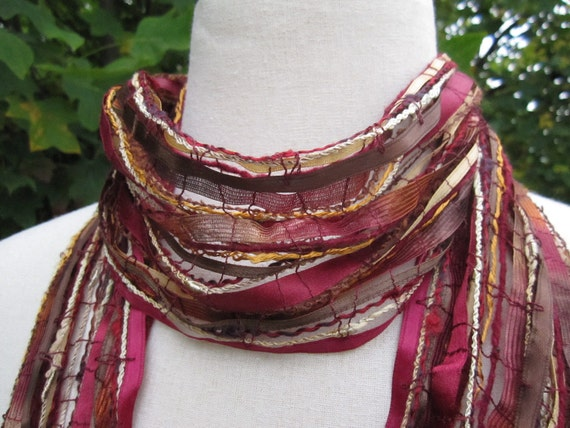 Fall colors womens scarf  lightweight and unique